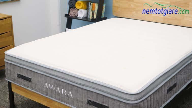 Bìa bông hữu cơ của nệm Awara