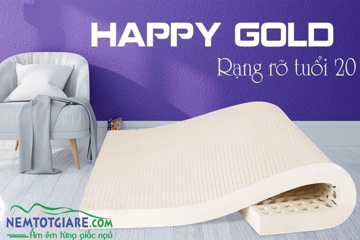 NỆM CAO SU HAPPY GOLD KIM CƯƠNG