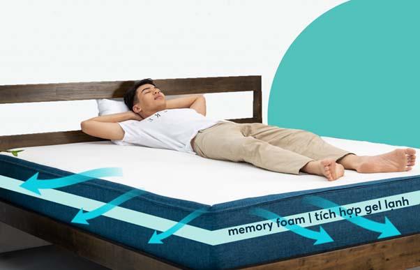 Nệm Foam mang tới cảm giác nằm thoải mái, êm ái và điều hòa nhiệt độ tốt.